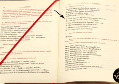 Il nuovo Rituale Esorcismi (2004) nel punto in cui riporta il Breve di Sant'Antonio - MANENTE Rosari (Roma)