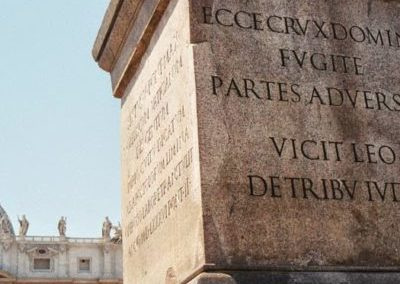 Obelisco di piazza San Pietro con Brevetto di Sant'Antonio - MANENTE Rosari (Roma)