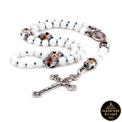 Comprare online Rosario con perline cloisonné in devozione alla Madonna della Medaglia Miracolosa