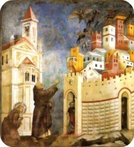 San Francesco esorcizza i demoni ad Arezzo