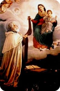 San Simone di Stock riceve lo Scapolare dalla Madonna del Carmelo