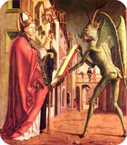Sant'Agostino e il diavolo