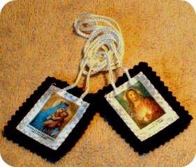 Lo Scapolare con Gesù e Maria - Madonna del Carmelo