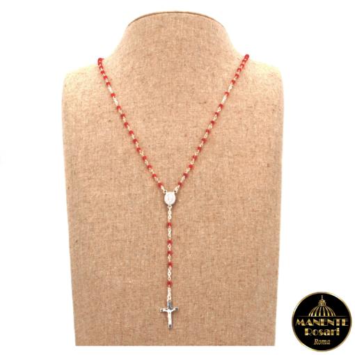 Collana Rosario in Argento 925 e Cristalli Biconi Swarovski Light Siam