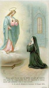 Apparizione di Gesù, Sacro Cuore, a Santa Margherita Maria Alacoque