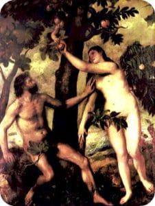 Tentazione diabolica di Adamo ed Eva