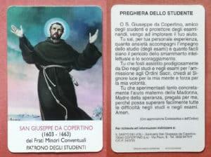 Preghiera dello studente per superare un esame - Preghiera a San Giuseppe da Copertino