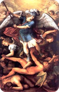San Michele Arcangelo scaccia i demoni