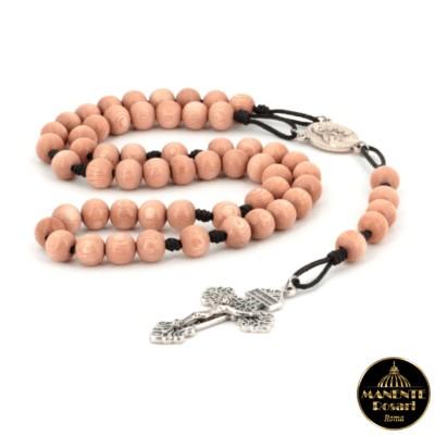 Comprare online Rosario artigianale in legno di rosa (palissandro)