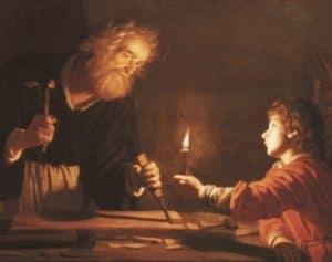 San Giuseppe con ascia