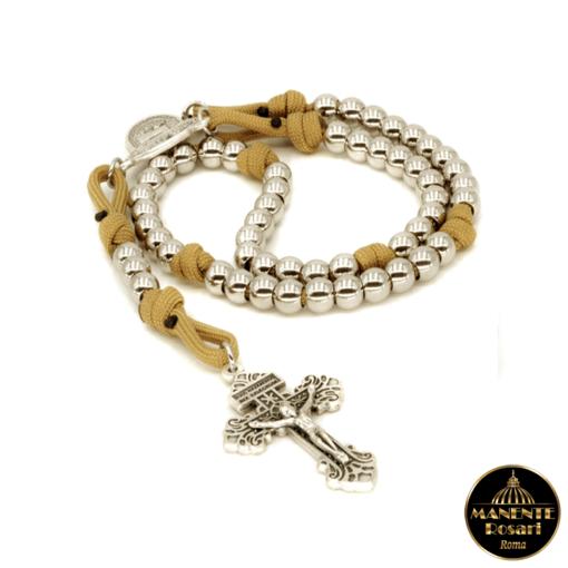 Corona del Rosario artigianale a Maria che scioglie i nodi in vendita online