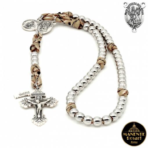 Corona del Rosario da Combattimento in onore della Madonna delle Milizie - Vendita Corone del Rosario Online