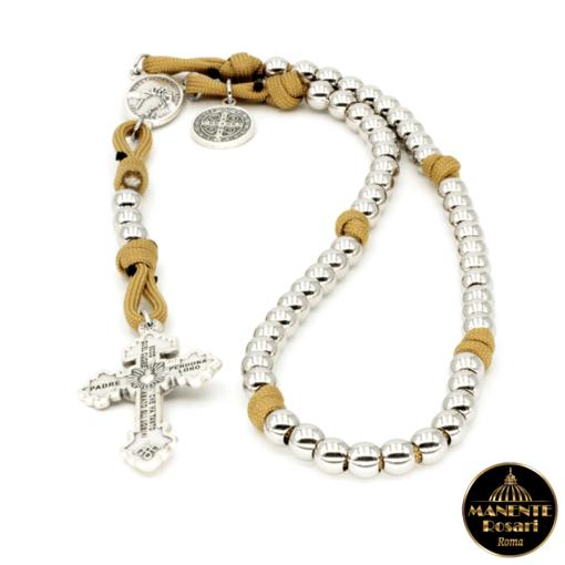 Comprare on line Corona Rosario artigianale alla Madonna che scioglie i nodi