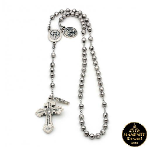 Vendita online Rosario da Combattimento in acciaio in onore della Madonna delle Milizie