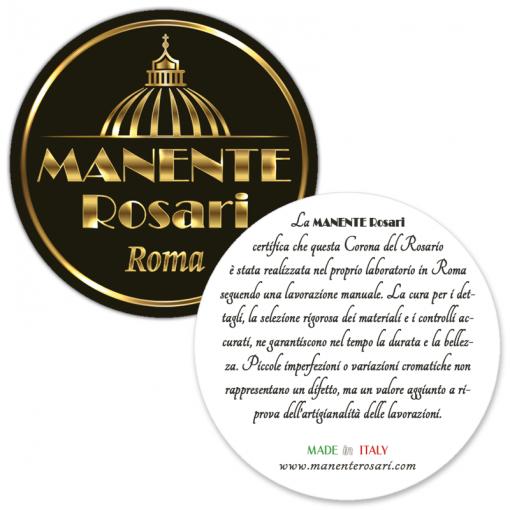 Garanzia Made in Italy per Rosari artigianali fatti a mano - MANENTE Vendita Rosari On-line