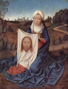 Santa Veronica e il velo con il volto di Gesù