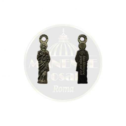 Medaglia San Giuseppe lavoratore con ascia (finitura nera)