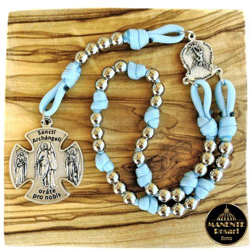 Acquistare Online Coroncina degli Angeli in Acciao e Paracord Celeste