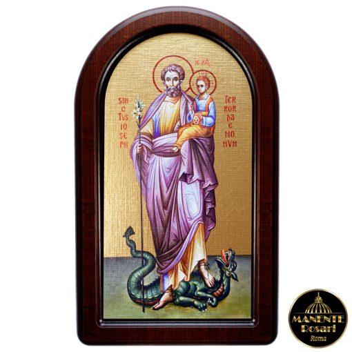 Icona Sacra in onore di San Giuseppe Terrore dei Demoni in vendita online